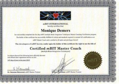 Certificat mBIT Master Coach 2019