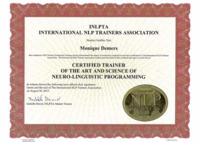 INLPTA Certificat formateur 2013