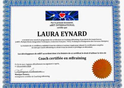 Certificat Coach mBraining - Laura Eynard